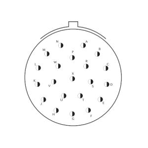 D38999/24KH21PA Соединитель Приборный под контргайку